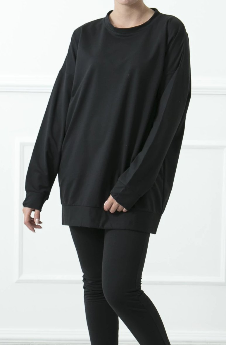 Black Basic Sweatshirt