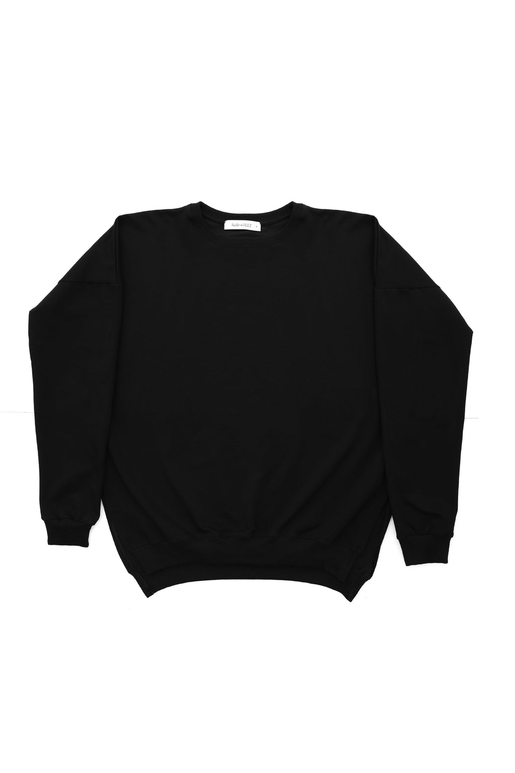 Anya Slit Sweatshirt in Black
