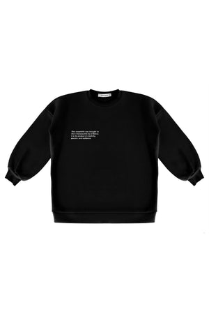 Black Statement Sweatshirt