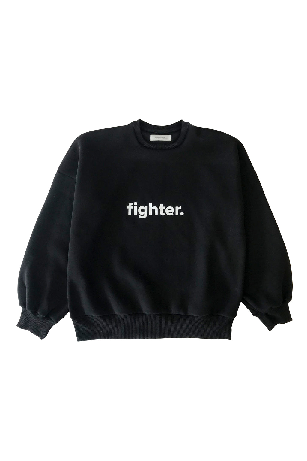 Black & White Fighter Sweatshirt - Waist Length