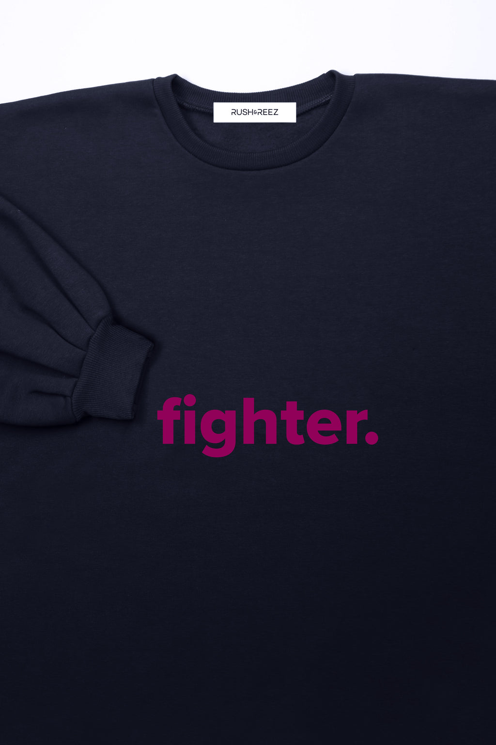 Navy & Fuschia Fighter Sweatshirt