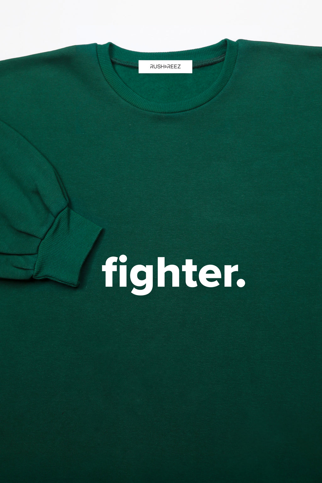 Emerald & White Fighter Sweatshirt