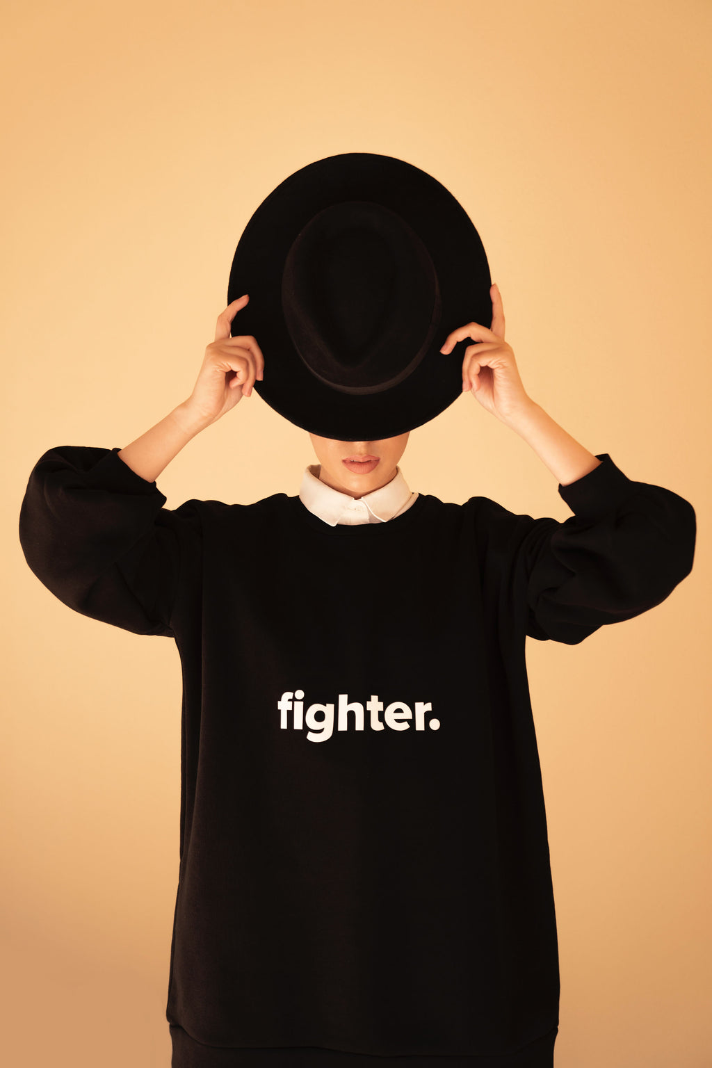 Black & White Fighter Top
