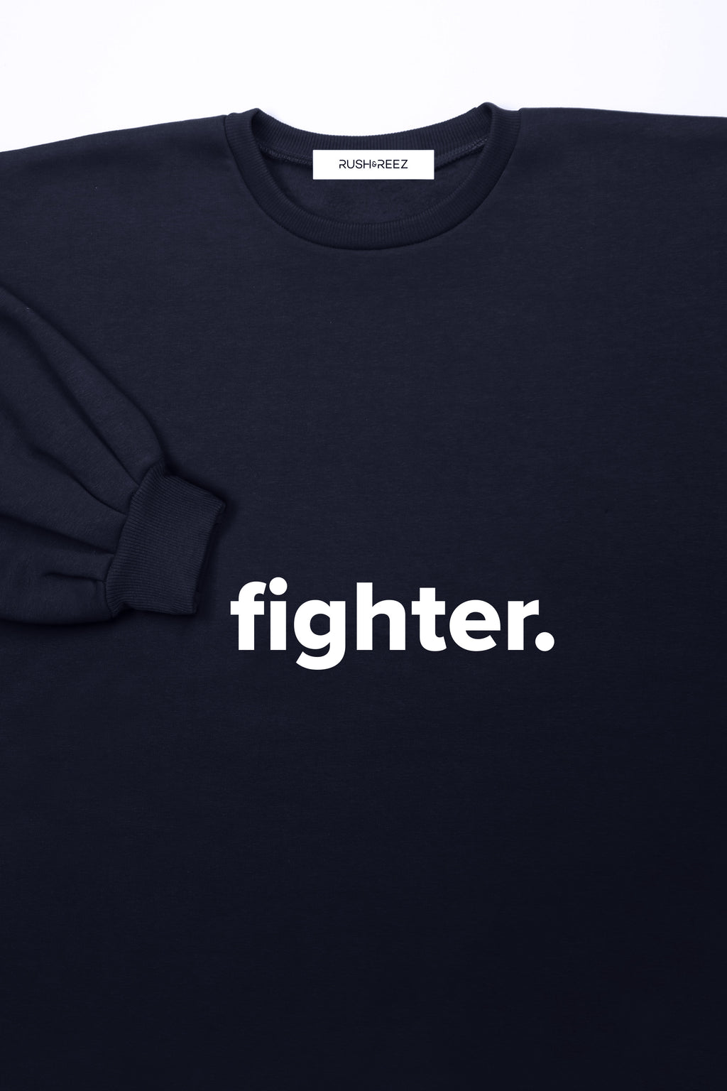 Navy & White Fighter Sweatshirt