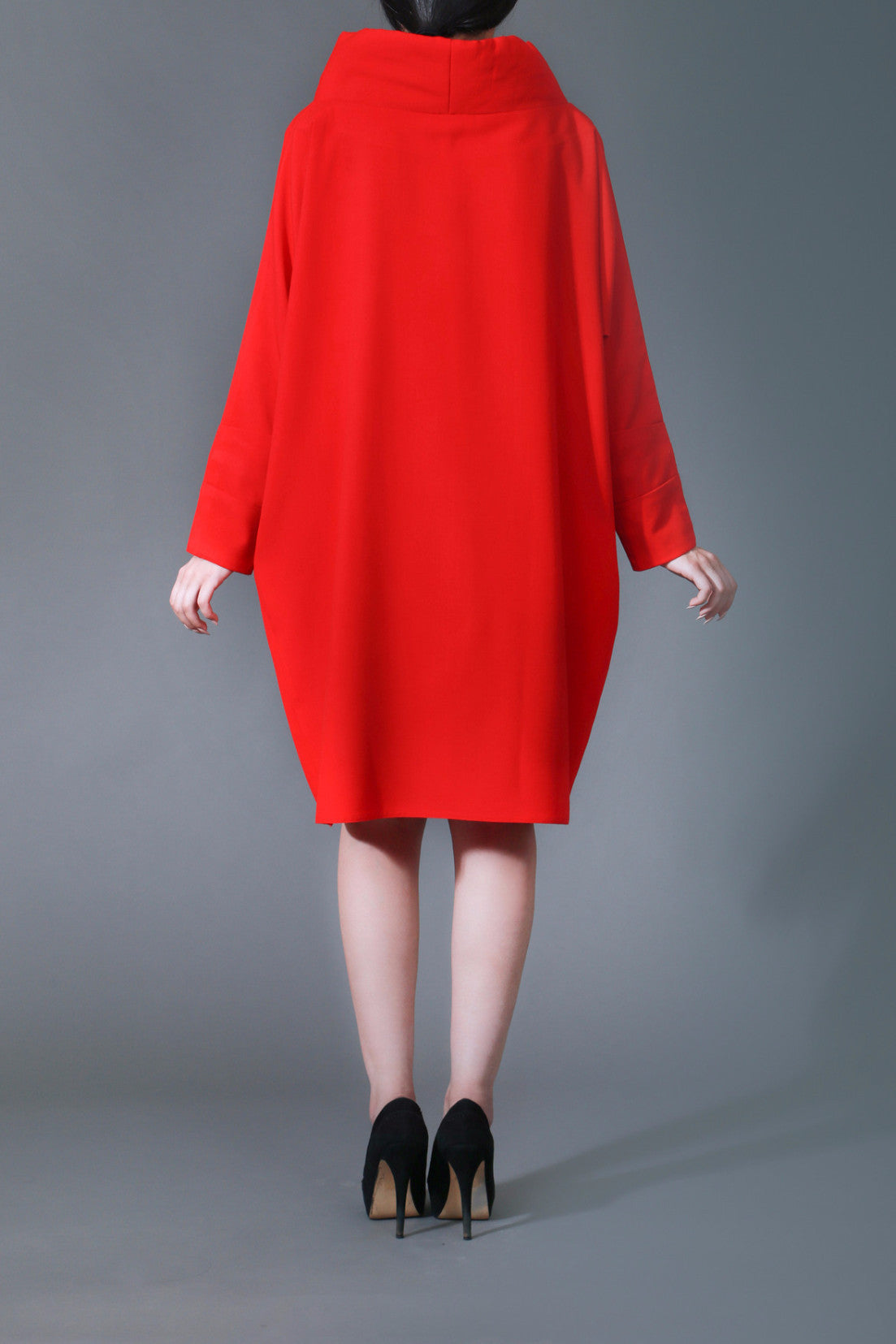 Rhona Red Cape Dress