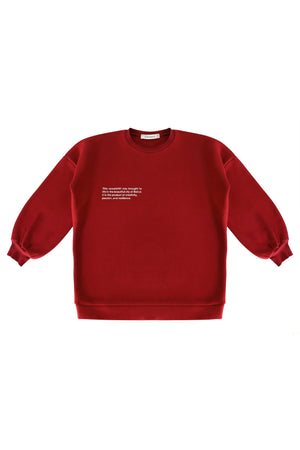 Oxblood Statement Sweatshirt