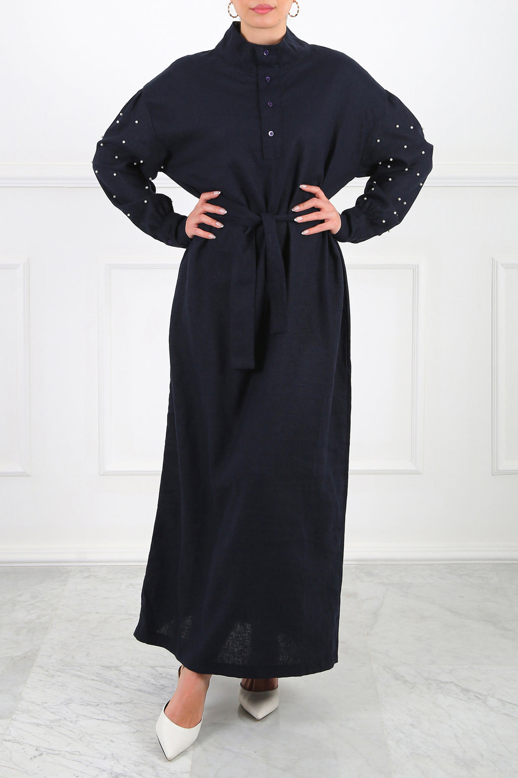 Navy Angela Maxi Dress