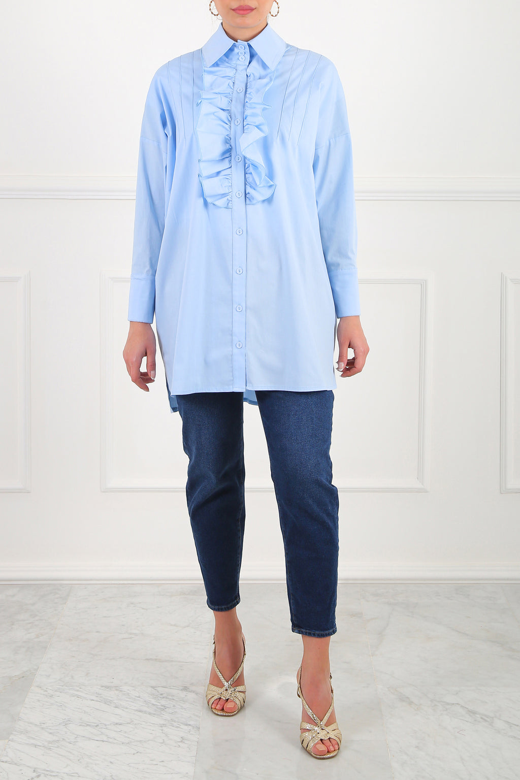 Blue Oh My Shirtdress!