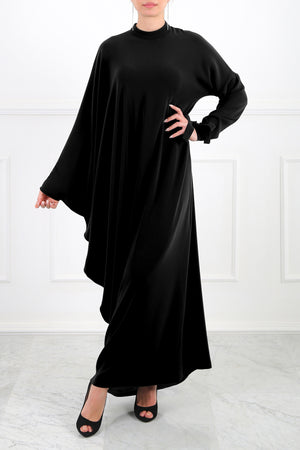 Black Ella Asymmetric Dress