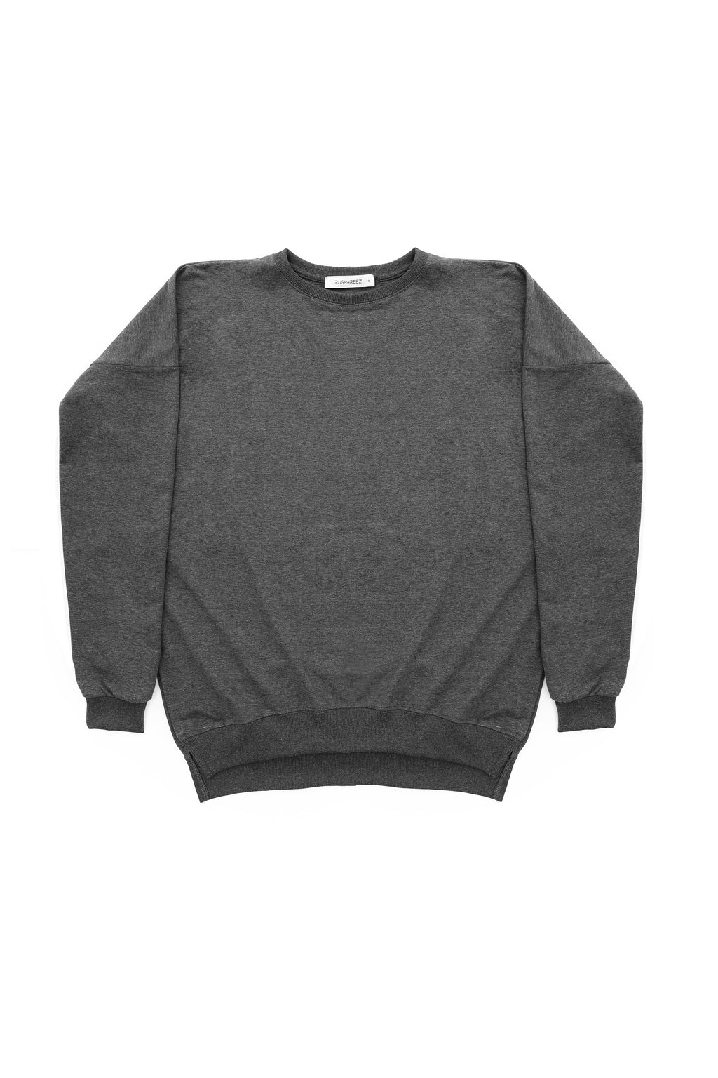 Anya Slit Sweatshirt in Charcoal