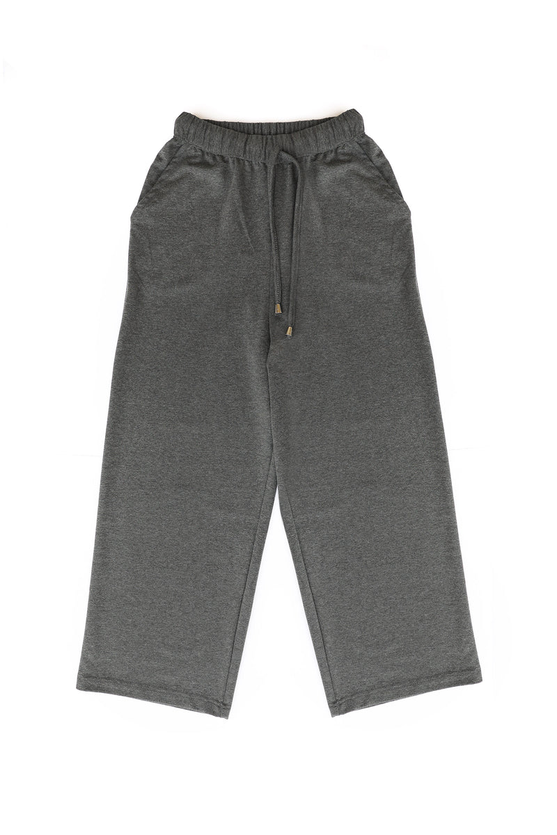 Wide Sweatpants in Charcoal