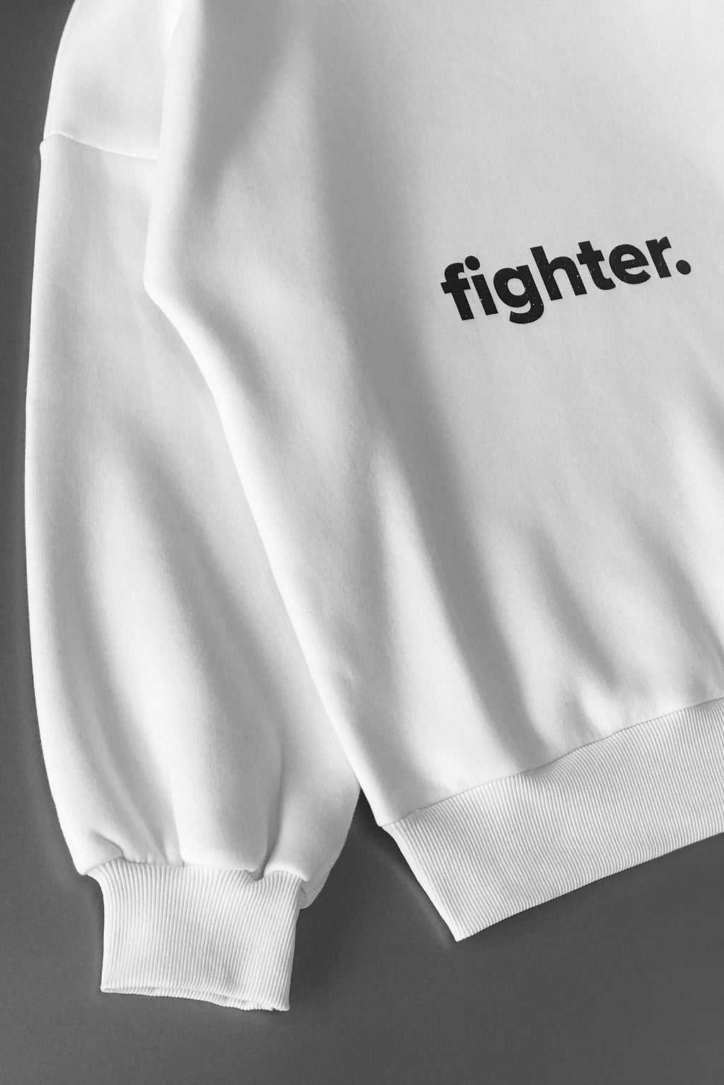 White Fighter Sweatshirt - Waist Length