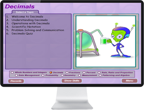 7 DAY FREE TRIAL -  MATHEMATICS GRADE    7, 8 - IQ SMART LEARNING SOFTWARE  - 4