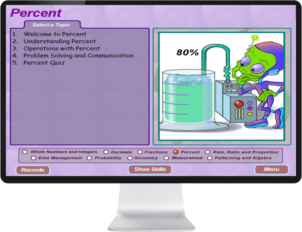 7 DAY FREE TRIAL -  MATHEMATICS GRADE    7, 8 - IQ SMART LEARNING SOFTWARE  - 7