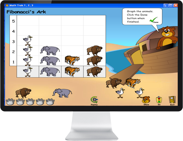 MATH TREK R - 3 SR - IQ SMART LEARNING SOFTWARE  - 8