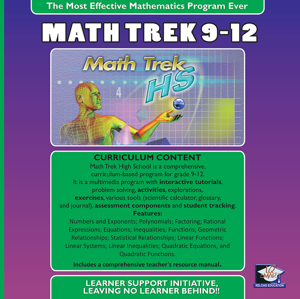 MATHEMATICS GR 9, 10, 11, 12 - IQ SMART LEARNING SOFTWARE  - 14