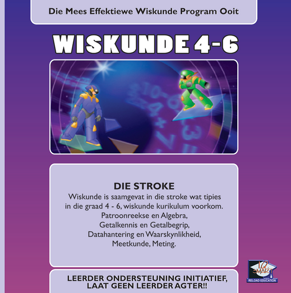 WISKUNDE GRAAD 4, 5, 6 (AFRIKAANS) - IQ SMART LEARNING SOFTWARE  - 9