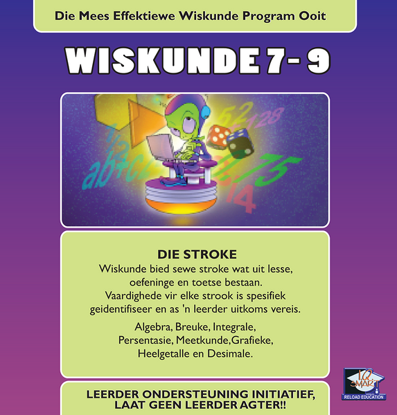 WISKUNDE GRAAD 7, 8, 9 (AFRIKAANS) - IQ SMART LEARNING SOFTWARE  - 8
