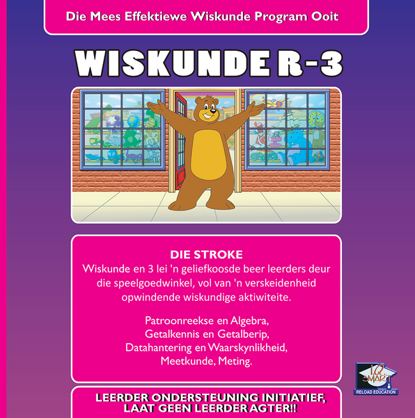 WISKUNDE GRAAD R, 1, 2, 3 (AFRIKAANS) - IQ SMART LEARNING SOFTWARE  - 8