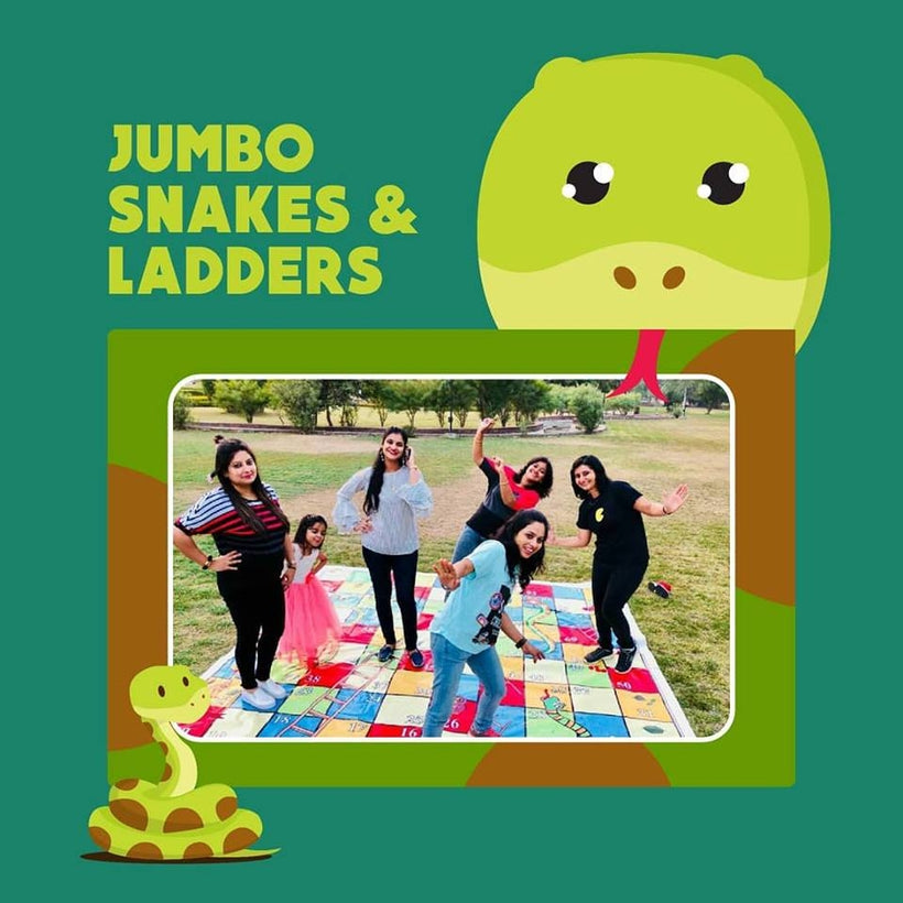 Jumbo Snakes & Ladders Mat with Dice