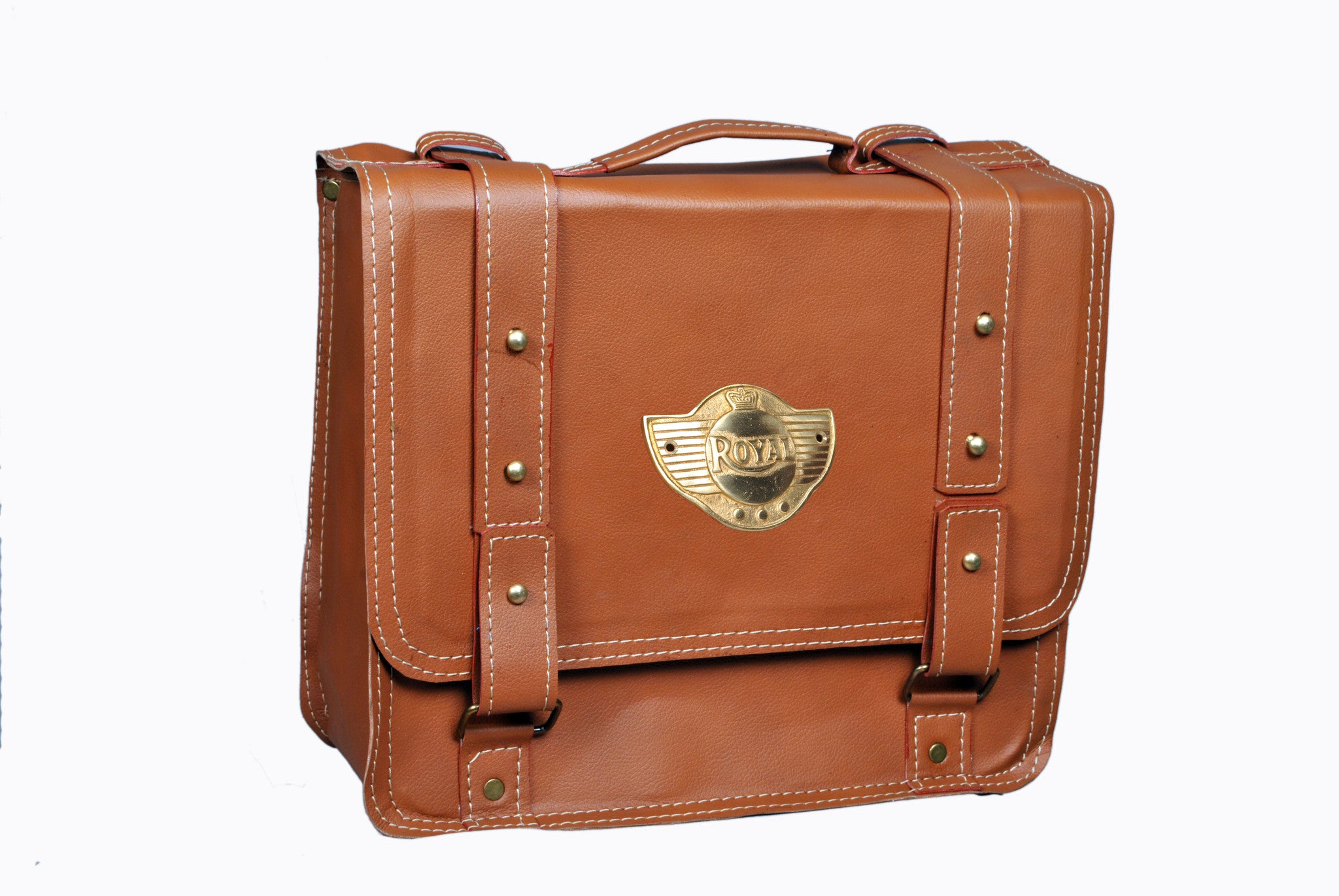 Brown Saddlebag Square Leather AFREZ-0273KH
