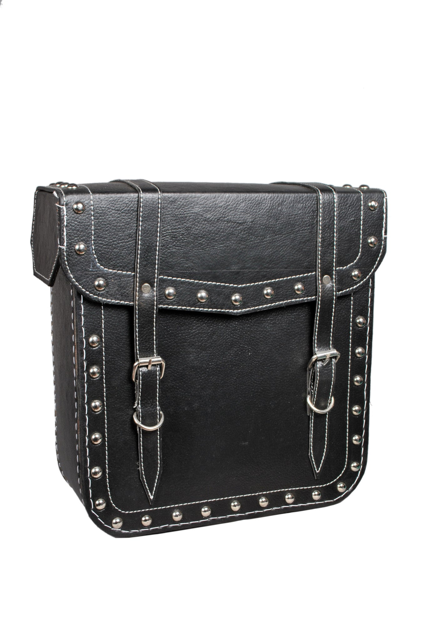 Black Studded Saddlebag Leather AFREZ-432
