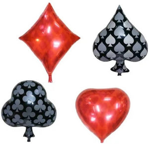 Casino Foil Balloons Combo (Pack of 4)