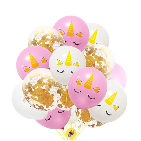 "Unicorn 12"" Confetti Balloons (Set of 10pcs.) for Unicorn Theme Parties, Startup Summits, Corporate Events, Trade Shows, Birthdays, Baby Showers, etc."