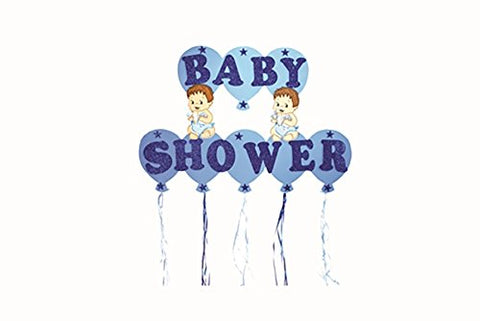 "Baby Shower (Blue) Foam 16"" Banner Baby Boy"
