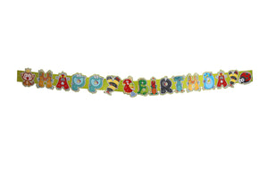 Happy Birthday Jungle Theme 5 Feet Party Banner