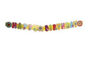 Happy Birthday Floral Theme 5 Feet Party Banner
