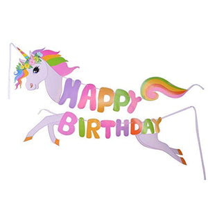 "Unicorn Happy Birthday 50"" Banner for Unicorn Theme Party"