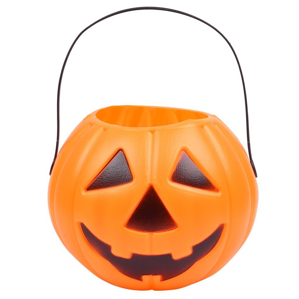 4Pcs. Jack-o'-Lantern Treat Pumpkin Bucket/Halloween Pumpkin Plastic Bucket