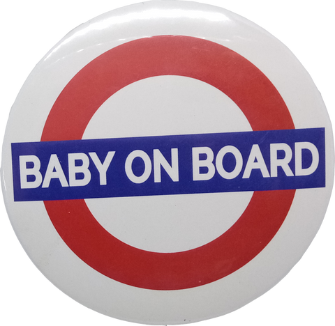 Baby On Board Brooch Badge Pin (Set of 2Pcs.)