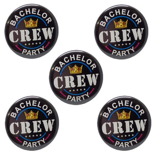 Bachelor Party Crew Brooches (Pack of 5pcs.)
