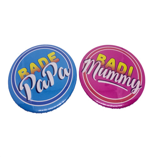 Soon To Be Bade Papa Badi Mummy Brooches