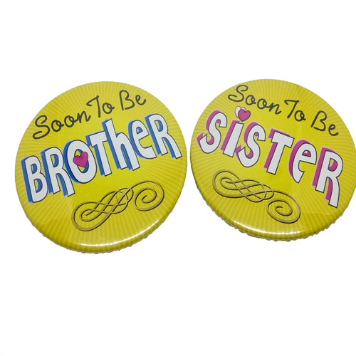 Soon To Be Brother Sister Brooches