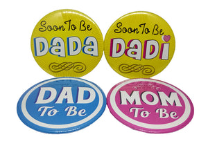 Soon To Be Dada Dadi Dad Mom Brooches
