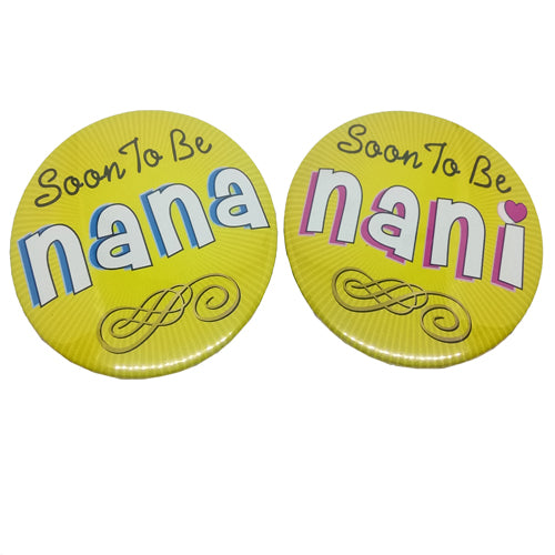 Soon To Be Nana Nani Brooches