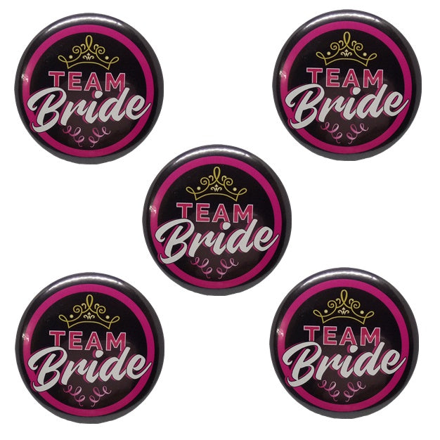 Team Bride Brooches (Pack of 5pcs.)