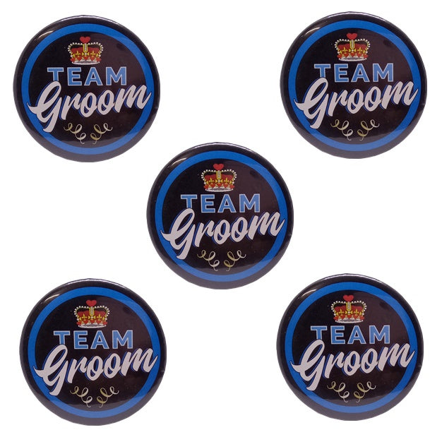 Team Groom Brooches (Pack of 5pcs.)