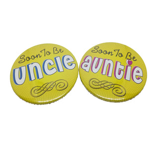 Soon To Be Uncle Auntie Brooches