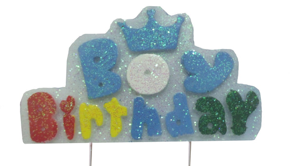 Boy Birthday Wax Party Candle