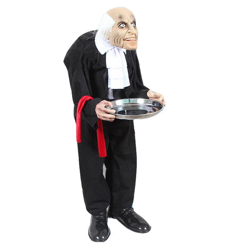 3Feet Bald Old Man Electric Halloween Doll