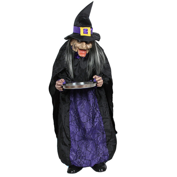 3.5Feet Witch with Hat Electric Halloween Doll