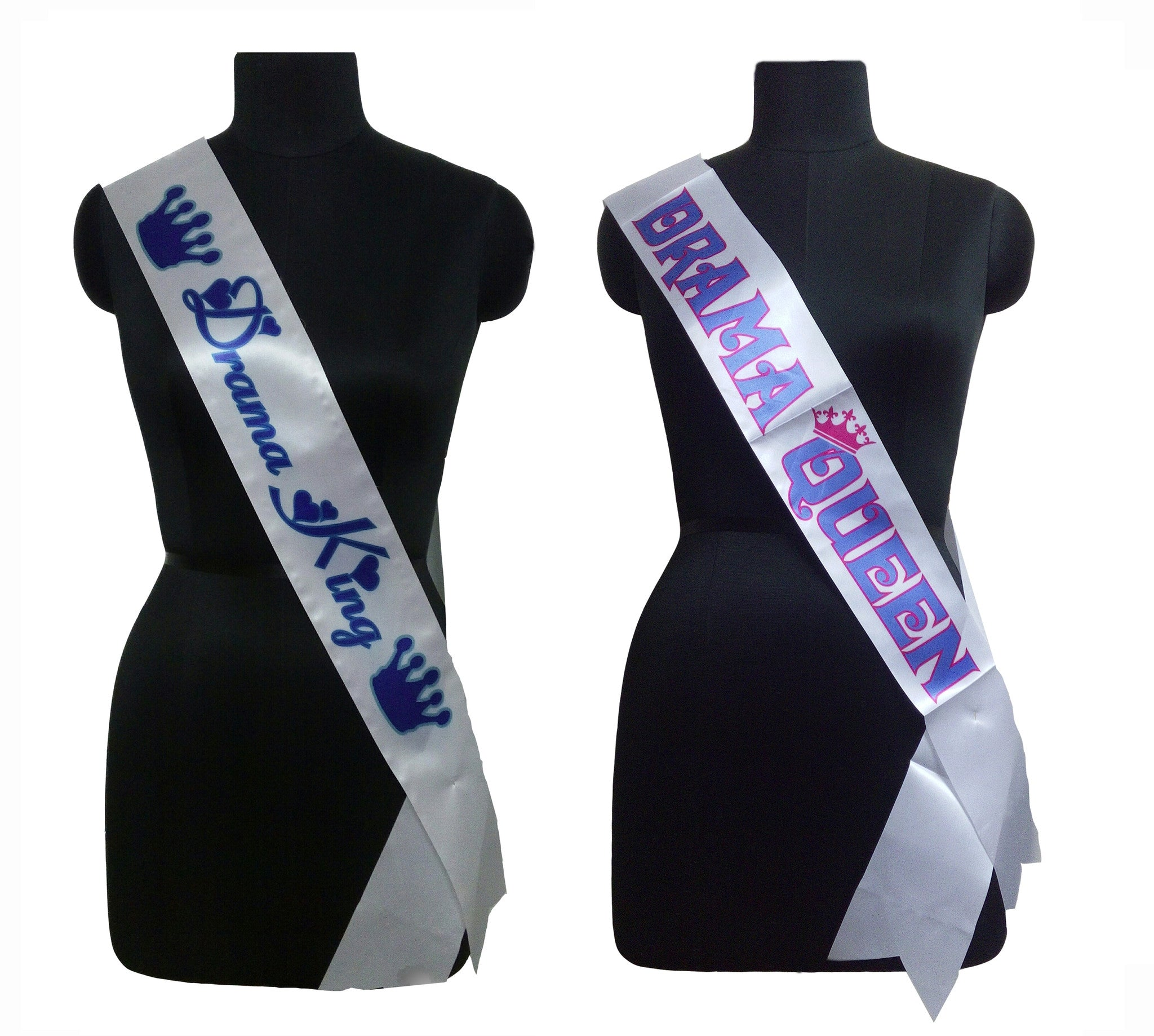 Drama King & Queen Sashes Combo
