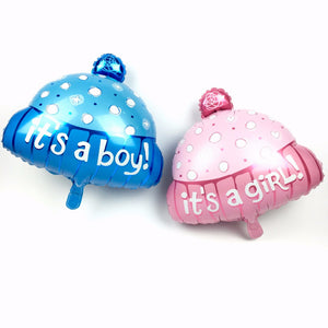 Its a Boy & Girl Cap 18 inches Foil Balloons Combo (Pack of 2)