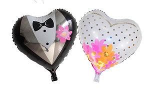 Bride & Groom 18 Inches Foil Balloons Combo (Pack of 2)