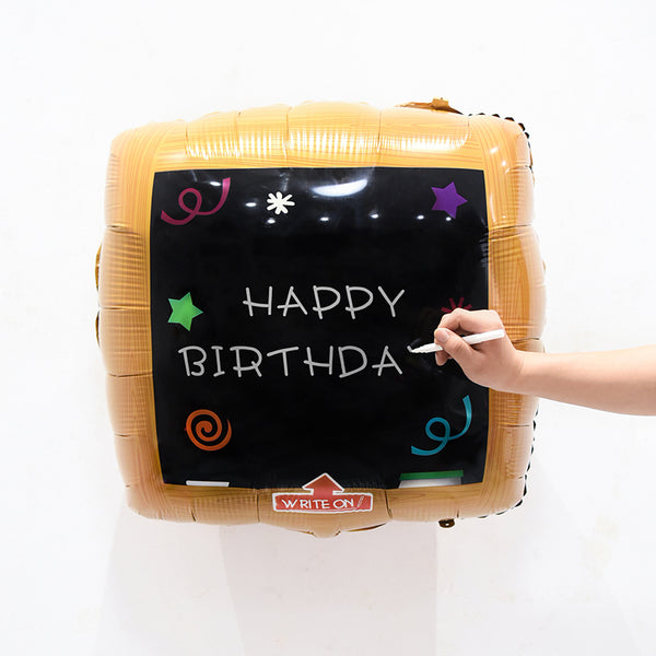 Customizable Chalkboard Foil Balloon