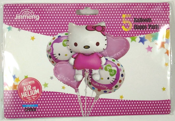 Hello Kitty Foil Balloons Bouquet (Set of 5)